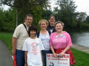 Neighbours at the 2009 Terry Fox Walk