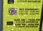 Hours for No Parking & Parking on a Meter